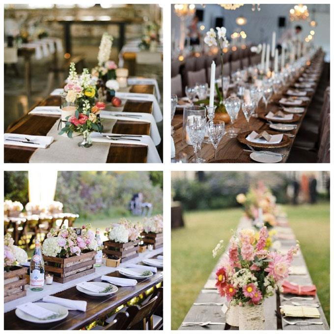 Mariage champ tre - Deco de table vintage ...