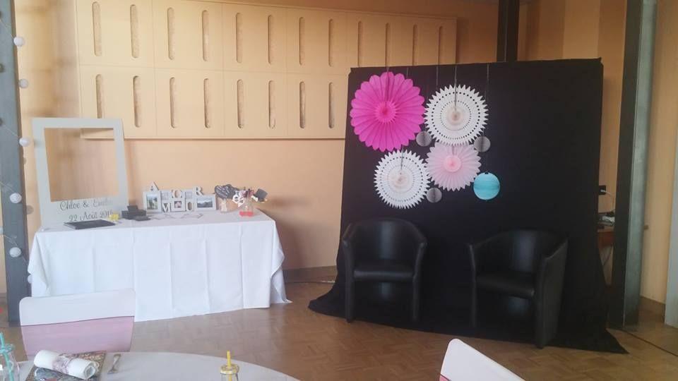 lampions rose fushia, blanc crème, gris et bleu ciel