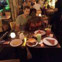 Nous étions dans un très restaurant à Berlin.  c'était formidable.