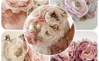 Bouquets de Mariée et Accessoires en Tissu...
