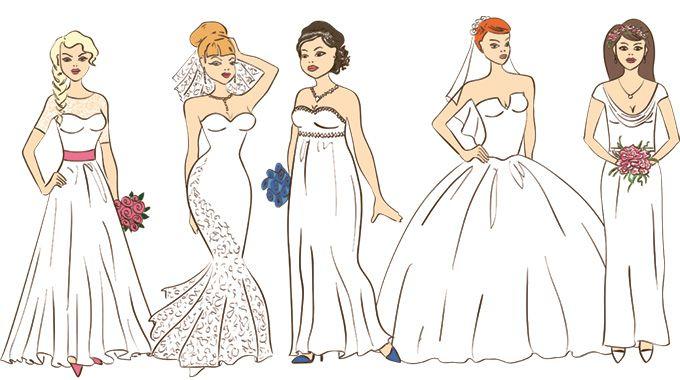 La robe est l'un des éléments clés de votre mariage et vous y apportez une attention toute particulière. Ce n'est pas toujours facile de savoir quels modèles vous siéent le mieux. Alors on vous aide !