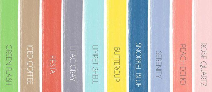 Découvrez la sélection des couleurs de mariage du printemps 2016