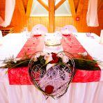 La table des mariés, juste nous 2, en amoureux :-)