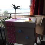 voici notre urne qui commence à ressembler a ce que je veux :-) il manque encore le hamac et les personnages :-)