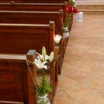 Exemple bougeoir suspendu à l'église