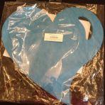 set turquoise en forme de coeur (à donner)